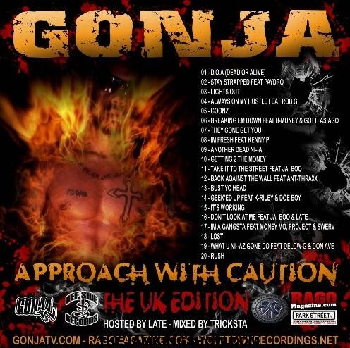New Release: UK edition of Gonja's latest street album 'Approach With Caution'