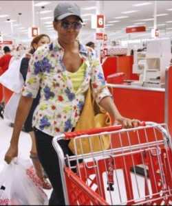 First lady at targets (4)