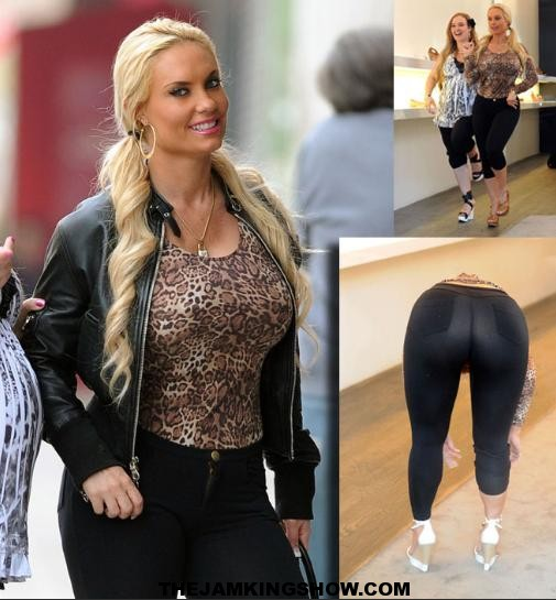 Coco showed off her assets while shoe shopping in NYC