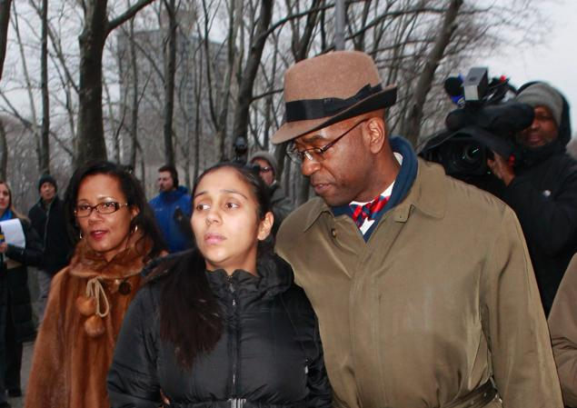 Gonzalez leaves Brooklyn Federal Court with her lawyer Anthony Ricco.