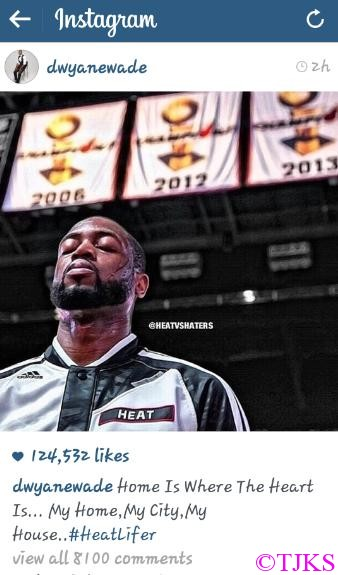 Dwyane Wade Says I am Heat for life!